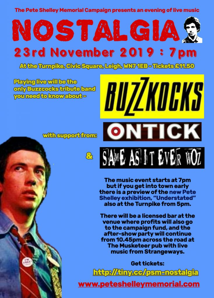 Pete Shelley Memorial Gig 23.11.19